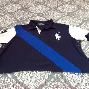Polo Ralph Lauren men's polo navy custom fit sz XL